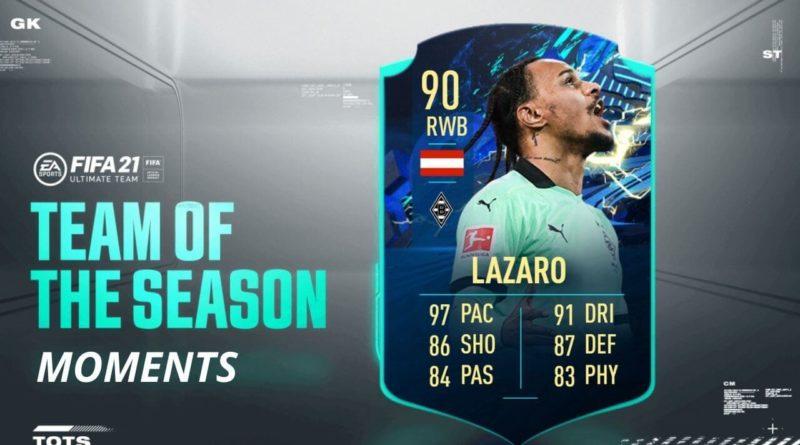 FIFA 21: Valentino Lazaro TOTS Moments SBC
