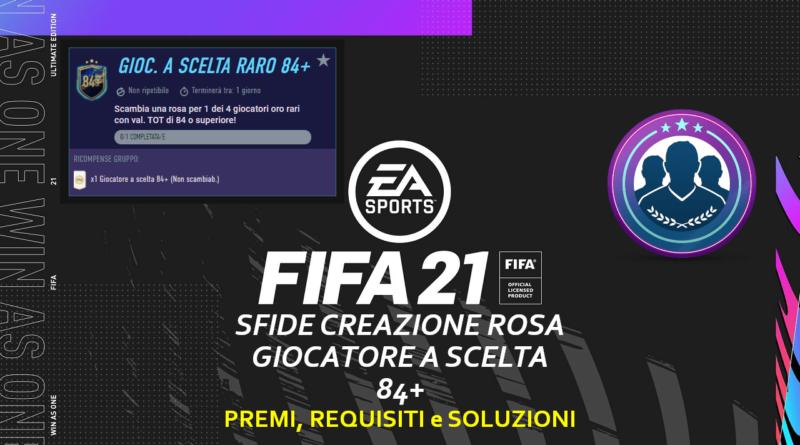 FIFA 21: SBC aggiornamento giocatore a scelta 84+ TOTS 24 maggio