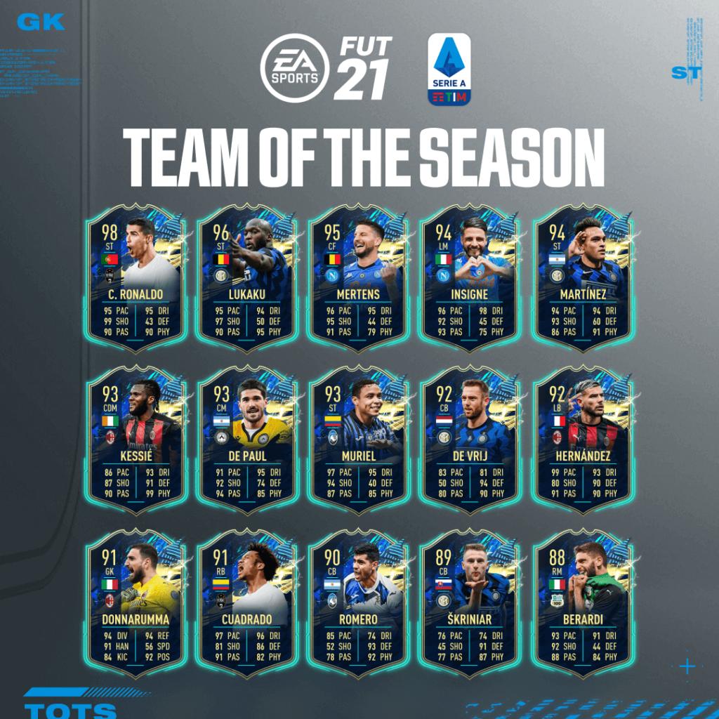 FIFA 21: Serie A Tim Team of the Season