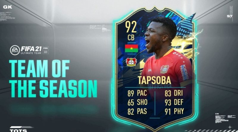 FIFA 21: Tapsoba TOTS SBC