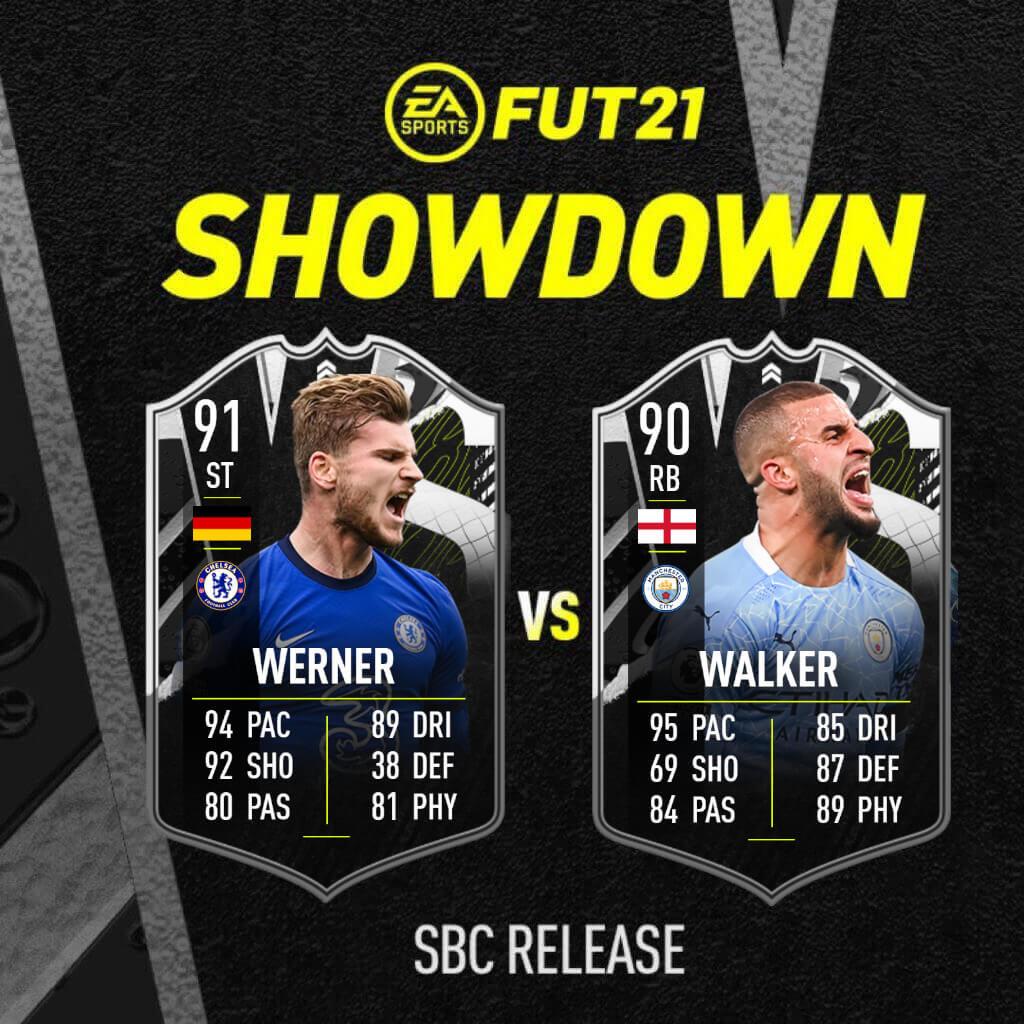 FIFA 21: Walker Vs Werner Showdown SBC
