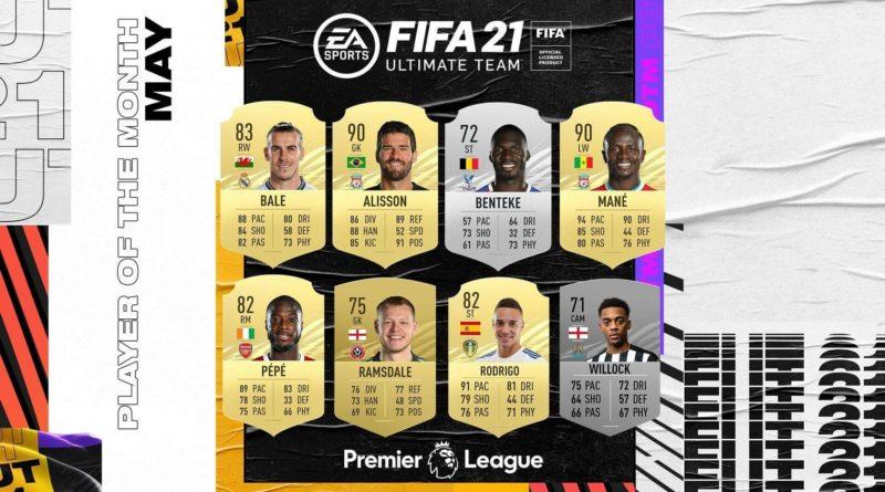 FIFA 21: candidati POTM di maggio in Premier League