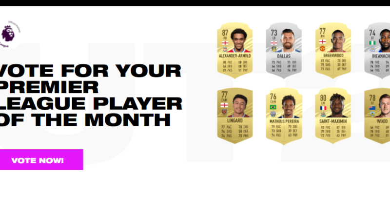 FIFA 21: candidati al POTM di Premier League di aprile