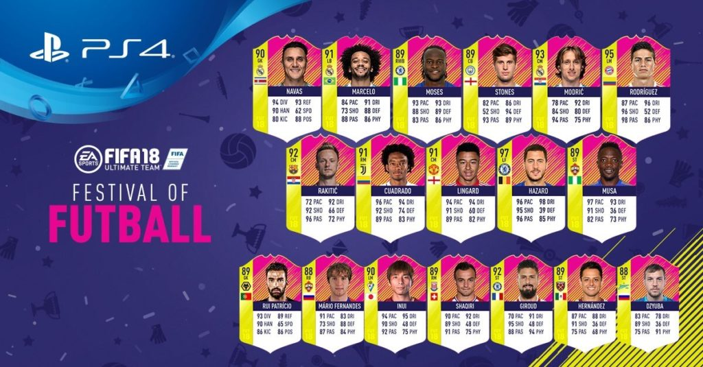 FIFA 18: Festival of FUTball Team of the Week