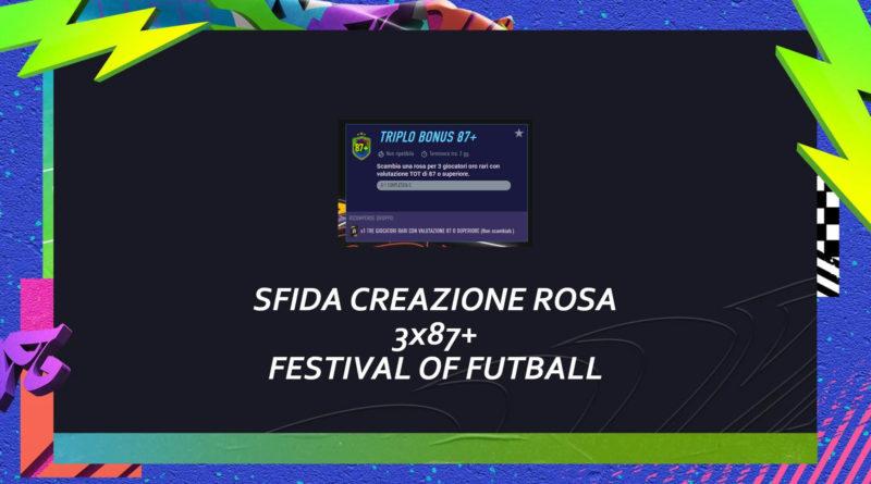 FIFA 21: SBC 3x87+ Festival of FUTball