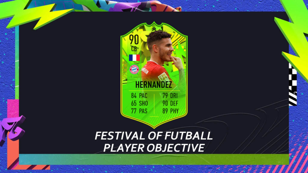 FIFA 21: Lucas Hernandez Path to Glory player objective