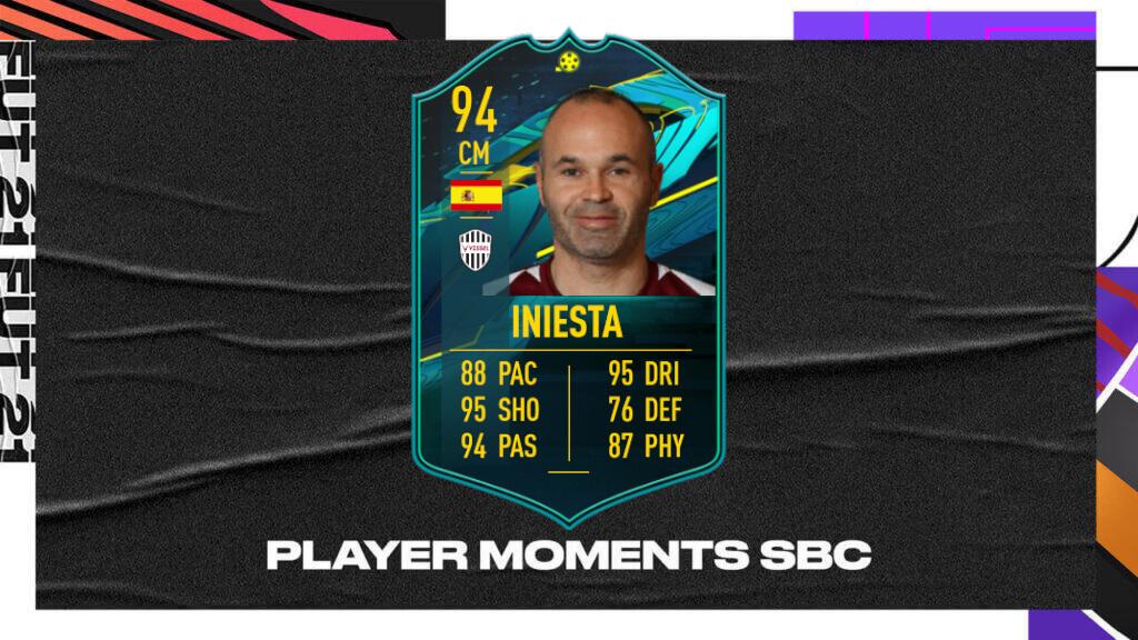 FIFA 21: Iniesta Player Moments SBC