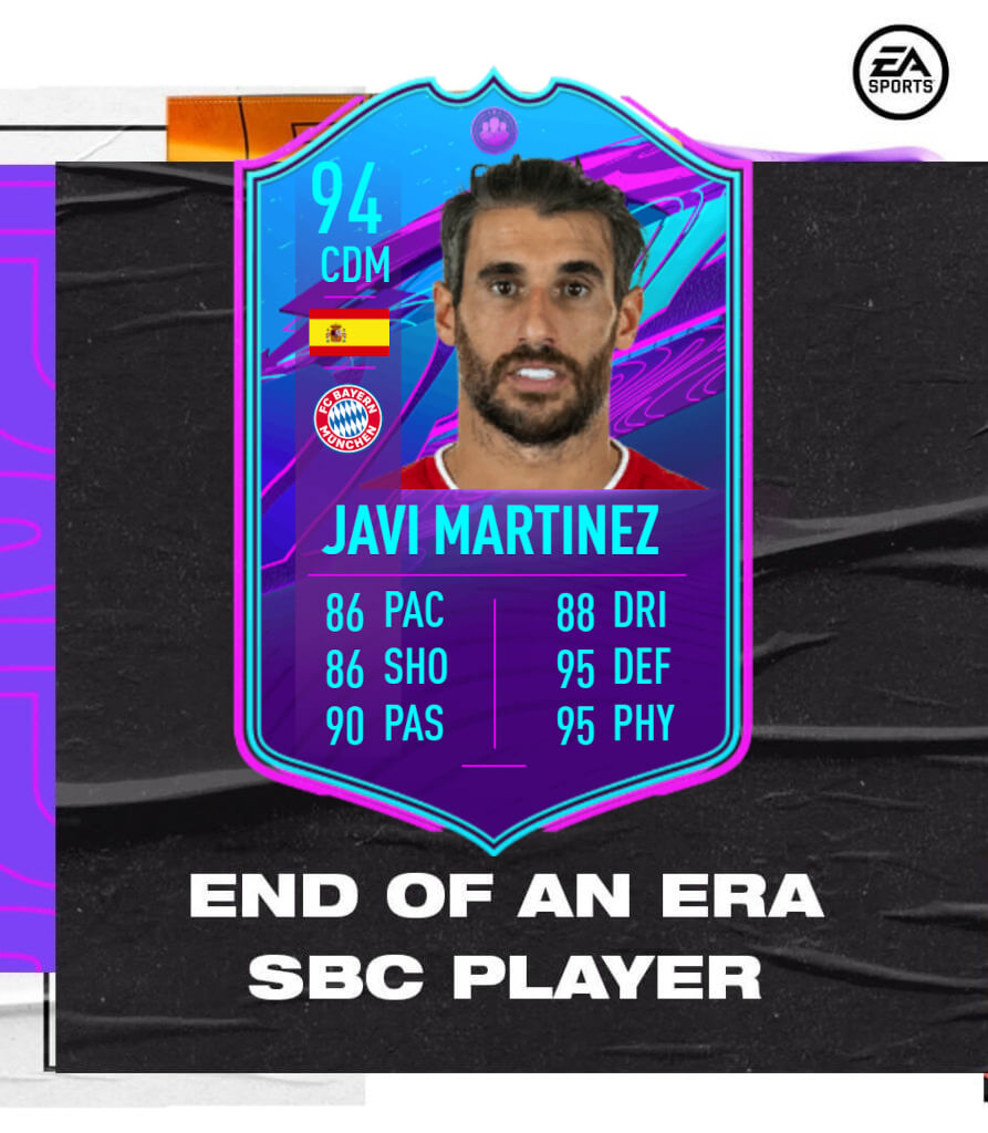 FIFA 21: Javi Martinez fine di un'era SBC