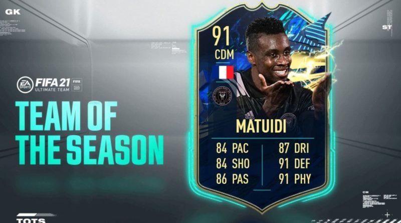 FIFA 21: Matuidi 91 TOTS SBC