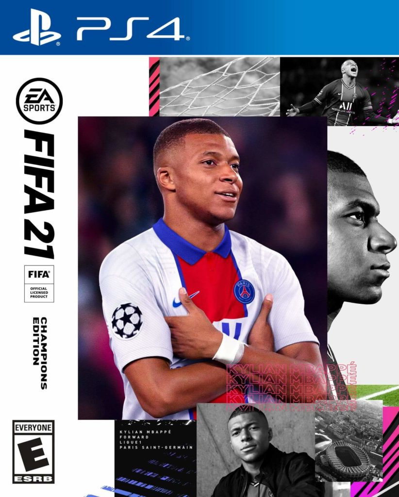 FIFA 21: copertina con Mbappé