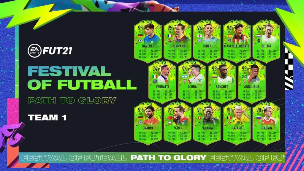 FIFA 21: Path to Glory team 1