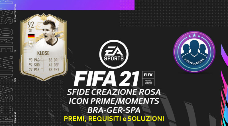 FIFA 21: SCR aggiornamento icona prime o moments brasiliana, tedesca o spagnola