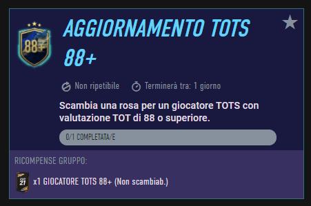 FIFA 21: aggiornamento TOTS 88+