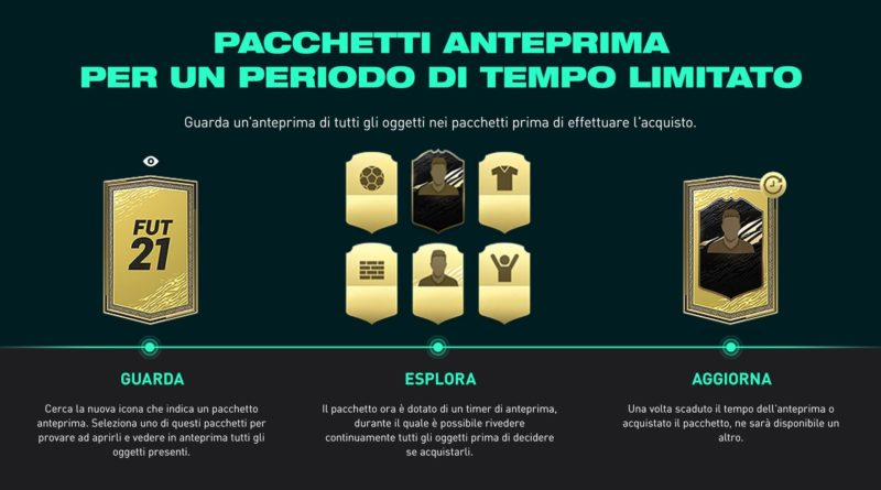 FIFA 21: pacchetti anteprima - Vedi il contenuto prima dell'acquisto
