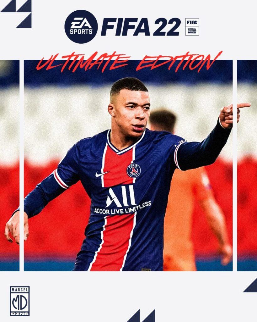 FIFA 22: copertina con Mbappé