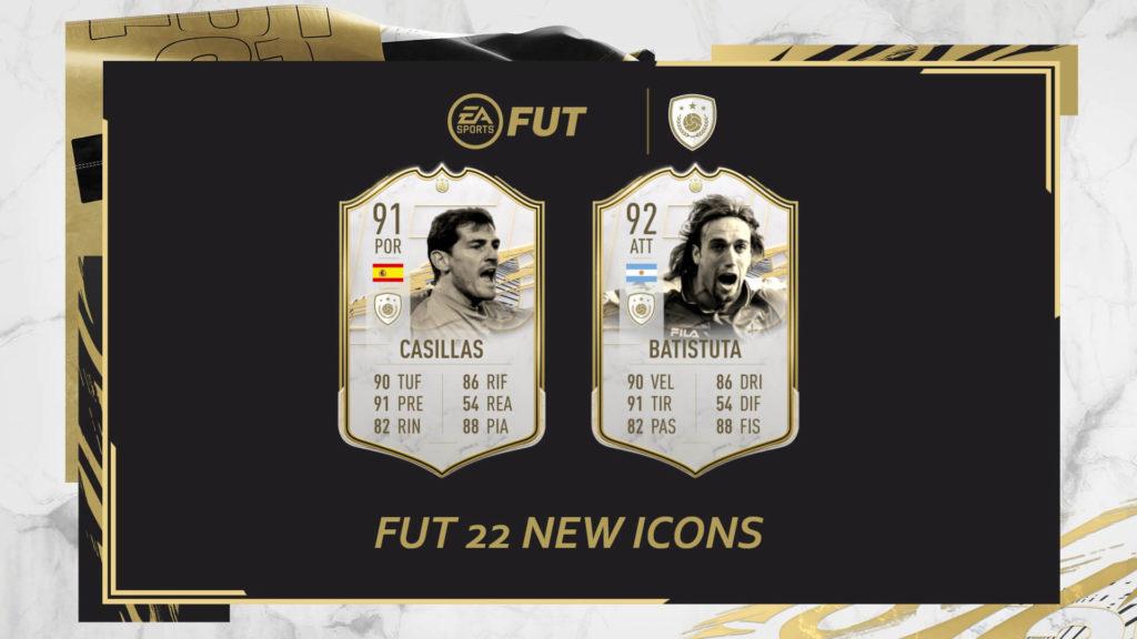 FIFA 22: Casillas e Batistuta new icons