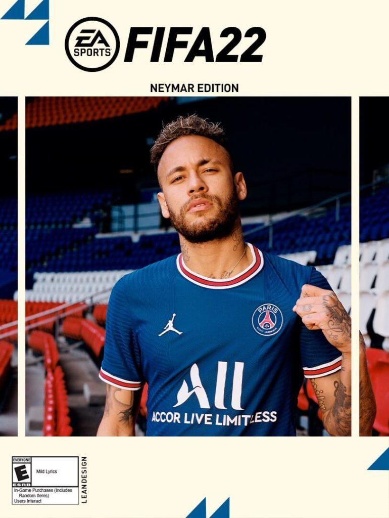 FIFA 22: copertina con Neymar Jr