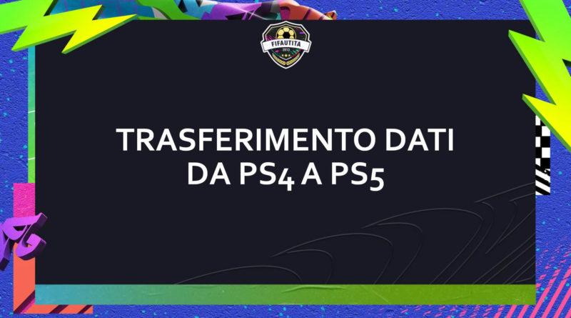 Come trasferire dati da PS4 a PS5