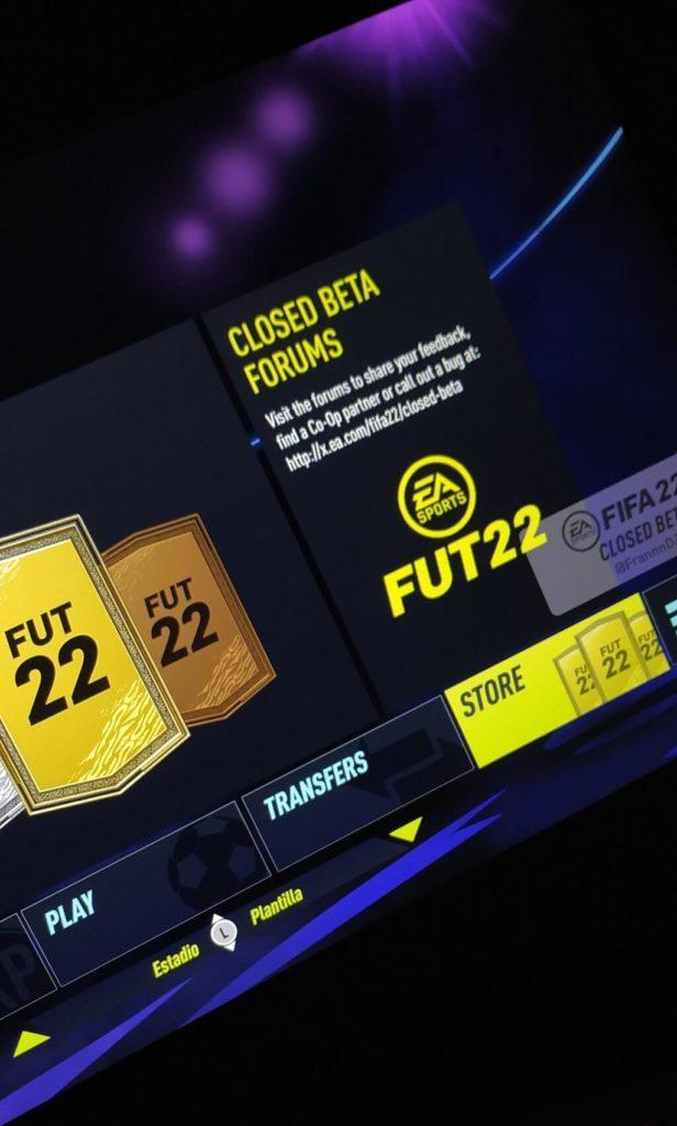 FIFA 22 Ultimate Team BETA screen