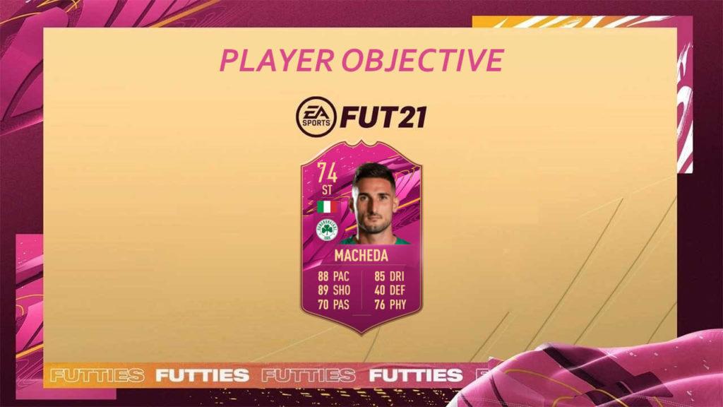 FIFA 21 Futties: Macheda Silver Stars player objective