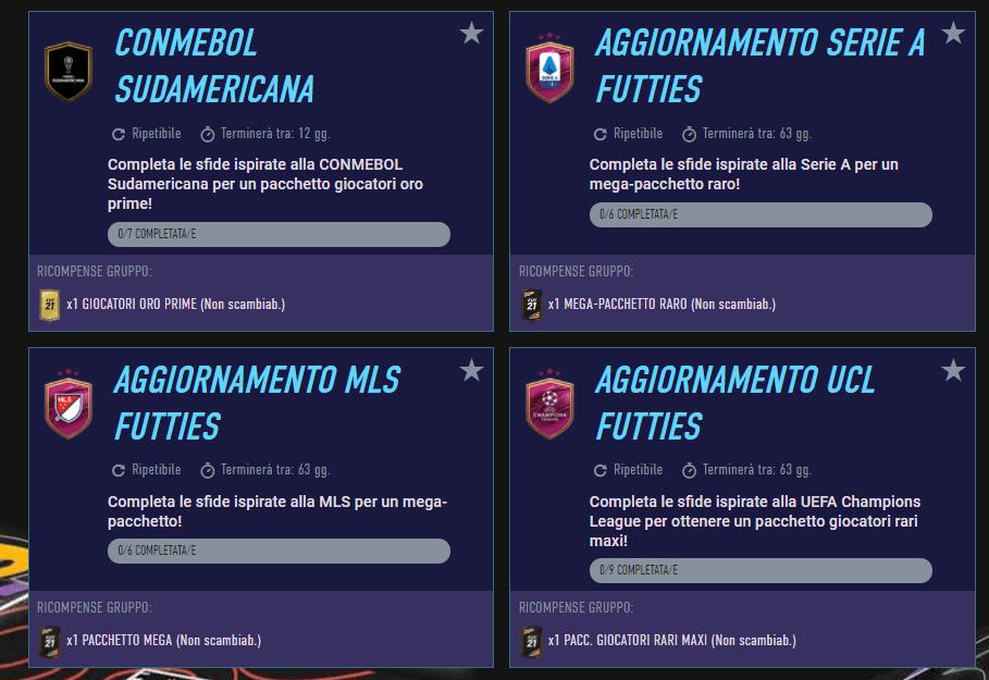 FIFA 21 Futties: SCR aggiornamento campionati
