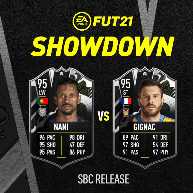 FIFA 21: Gignac Vs Nani showdown SBC