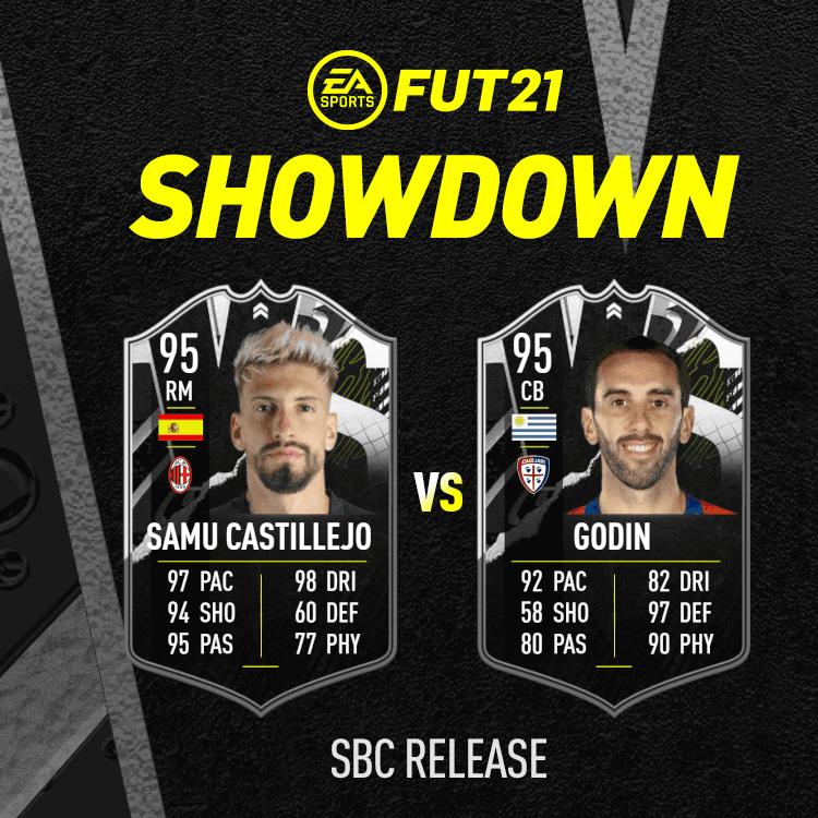 FIFA 21: Castillejo Vs Godin Showdown SBC
