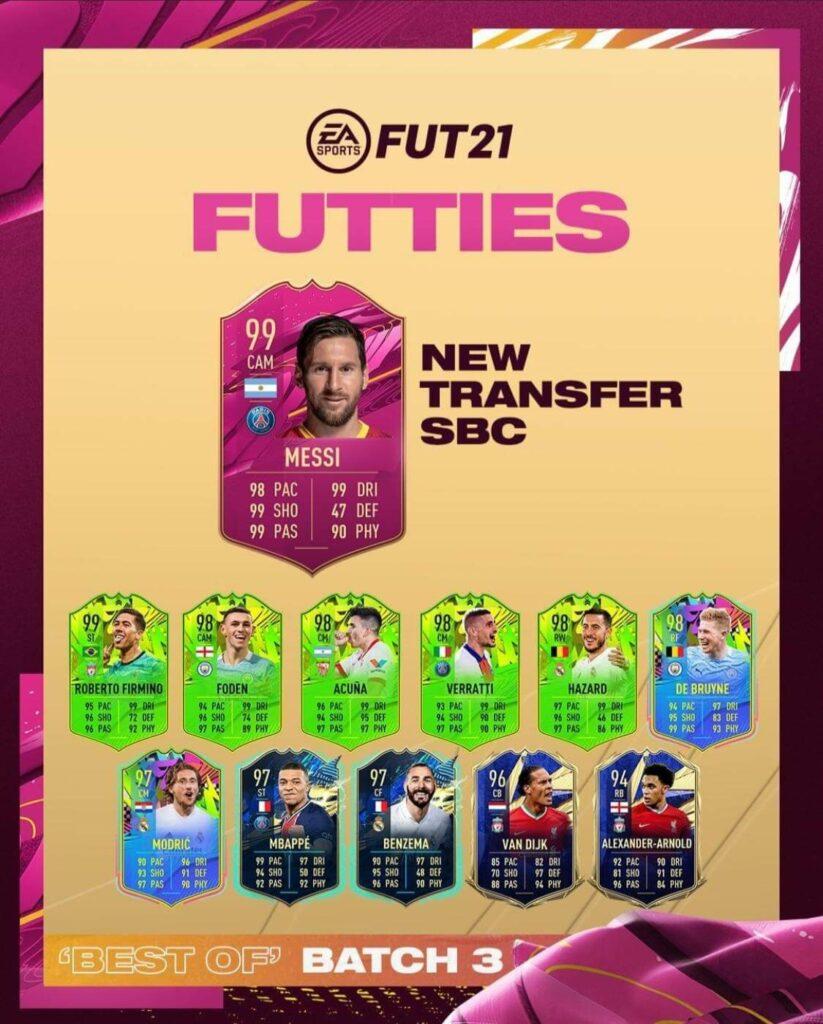 FIFA 21: Messi Futties transfer SBC