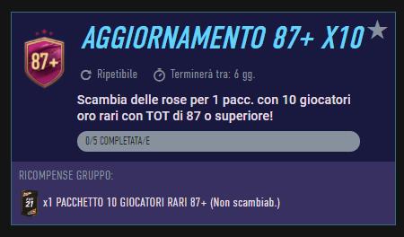FIFA 21: aggiornamento 87+ x10