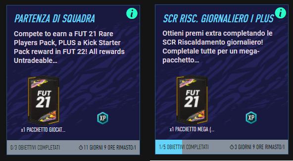 FIFA 21: obiettivi FUT 22 Pre-Season