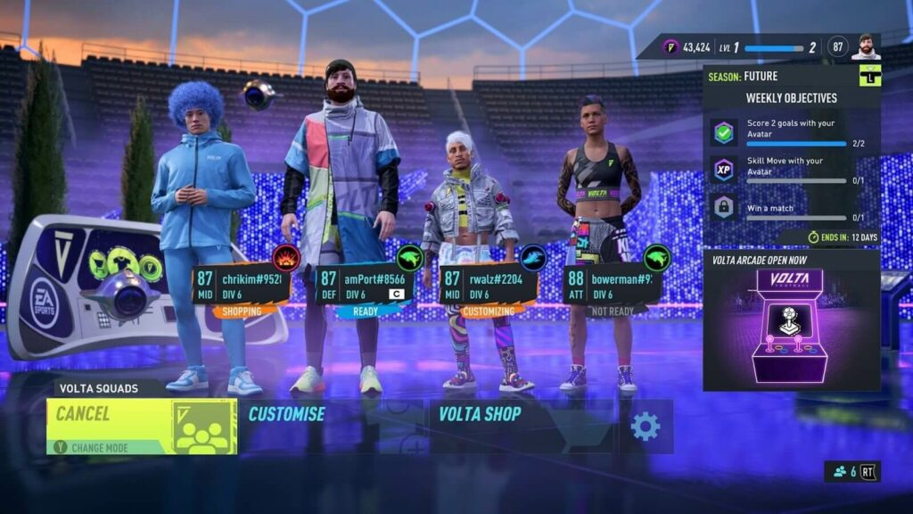 FIFA 22: Volta Squads