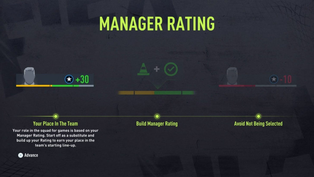 FIFA 22: career manager rating