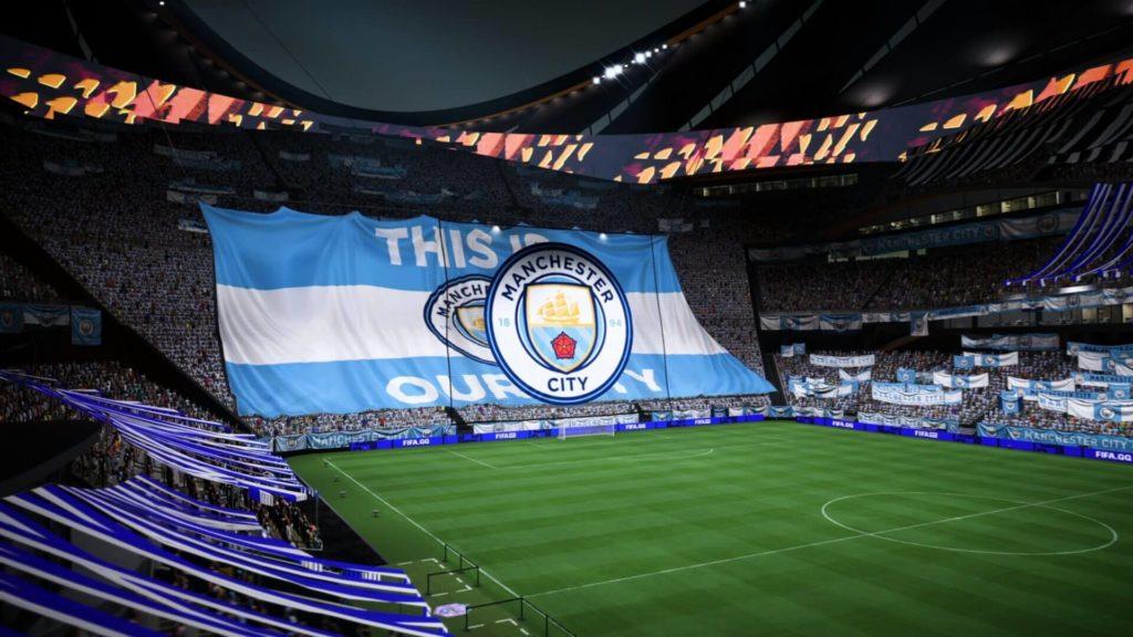 FIFA 22: personalizzazione dello stadio stile Manchester City