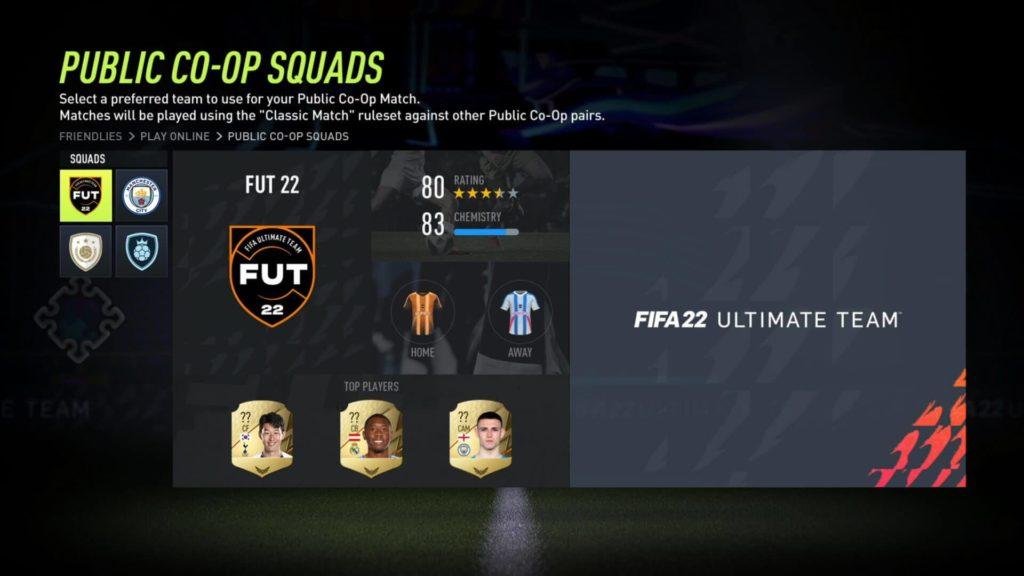 FIFA 22: Public co-op squad