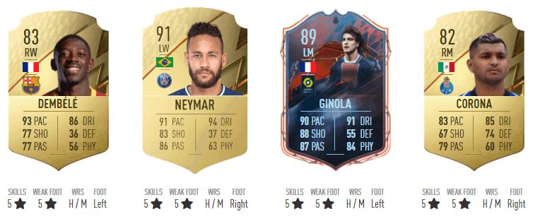 FIFA 22: 5 stars weak foot 5 stars skills players