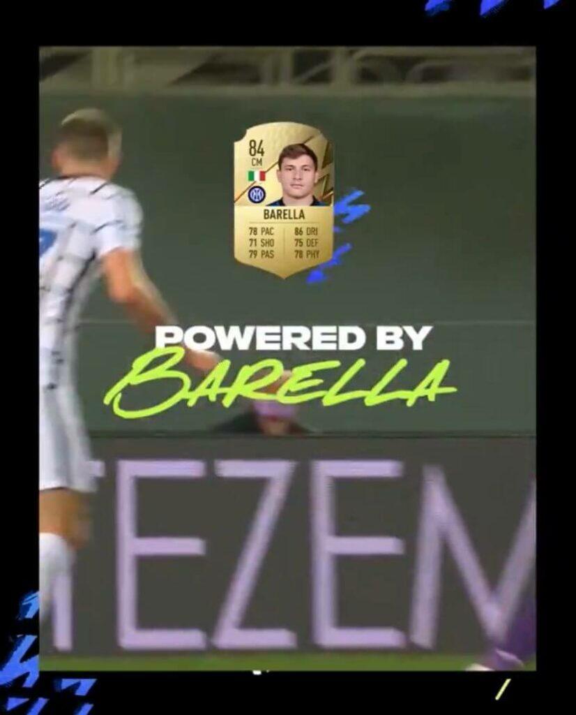FIFA 22: Barella rating 84