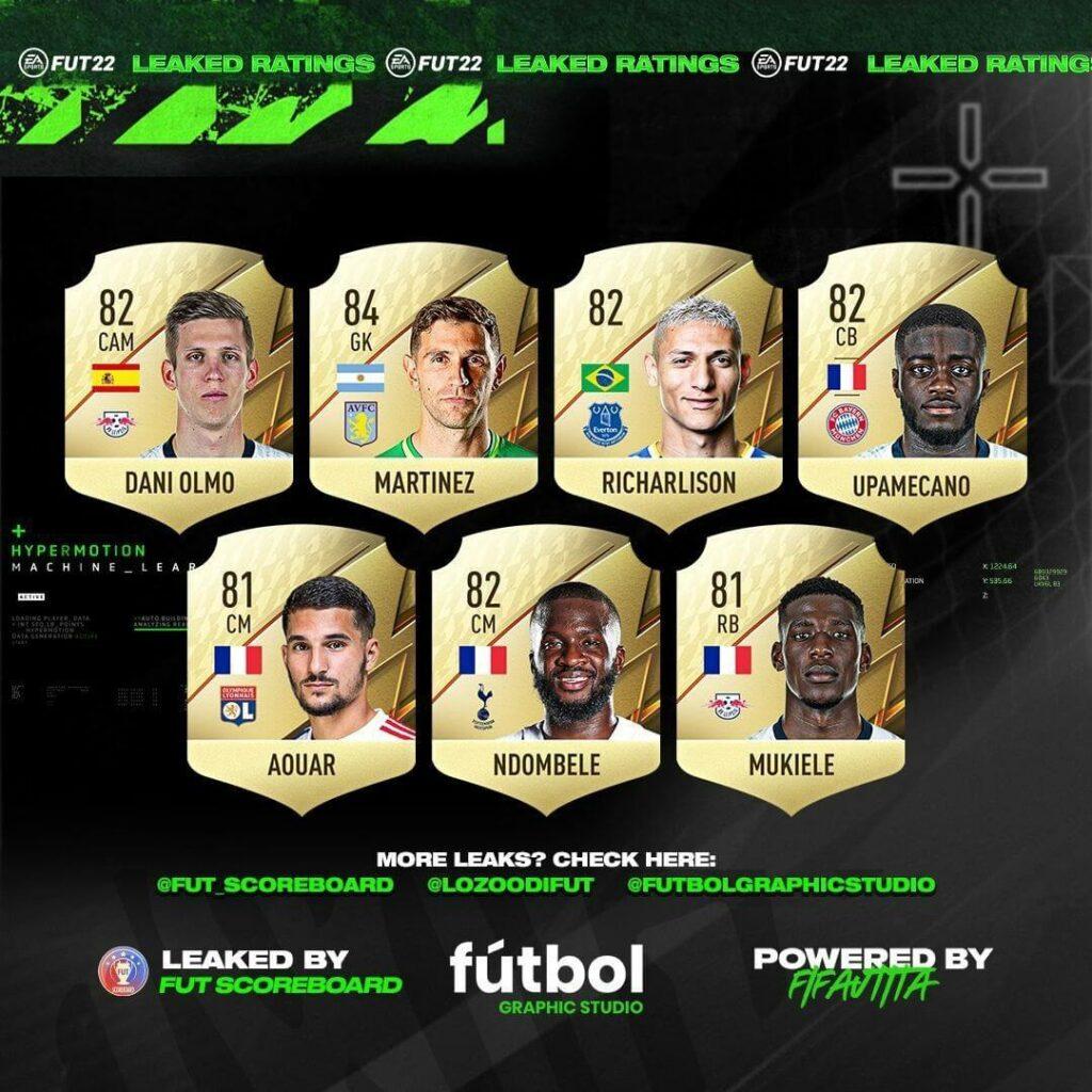 FIFA 22 ratings: Richarlison, Upamecano, Ndombele, Mukiele, Aouar