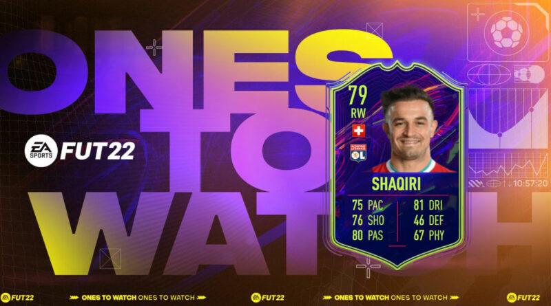 FIFA 22: sfida creazione rosa Shaqiri Ones to Watch