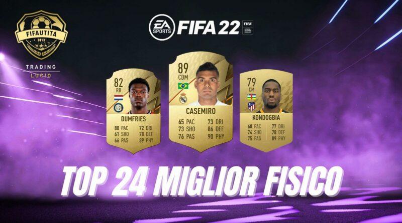 FIFA 22: TOP 24 giocatori con attributo fisico più alto