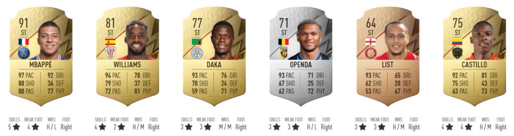 FIFA FUT 22: TOP 6 ATT più veloci