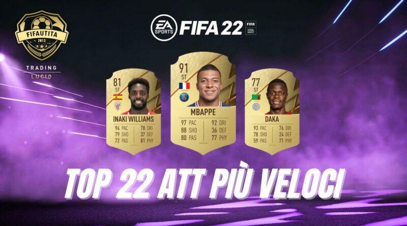 FIFA FUT 22: TOP 22 ATT più veloci