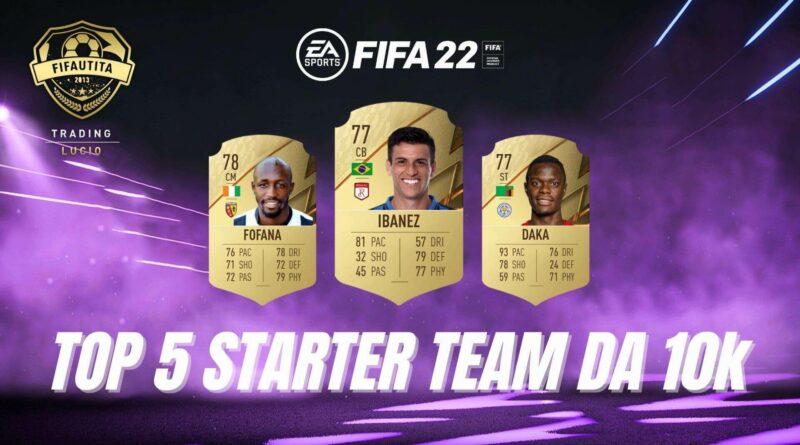 FIFA 22: TOP 5 cheap starter team