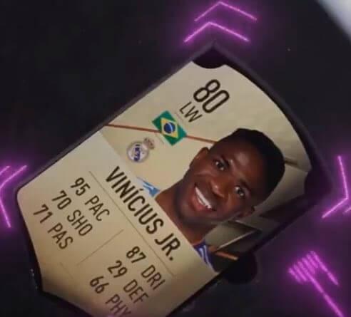 FIFA 22: Vinicius Jr 80 rating