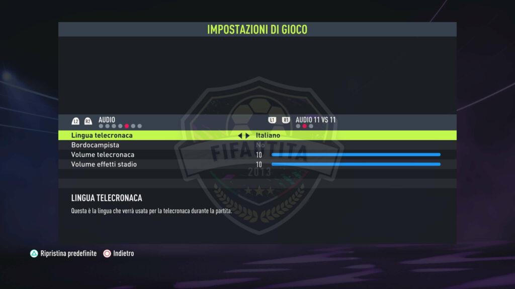 FIFA 22: cambio telecronaca