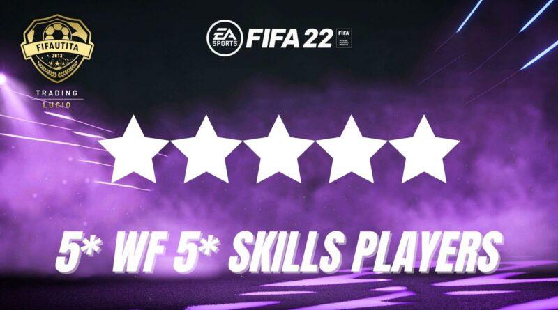 FIFA 22: giocatori con 5 stelle skills e piede debole