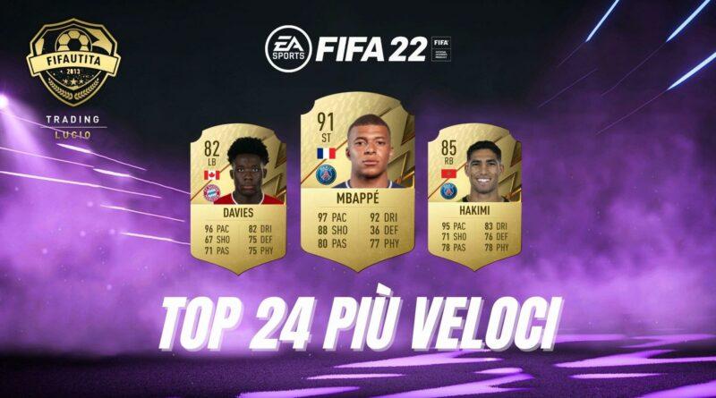 FIFA FUT 22: TOP 24 giocatori più veloci