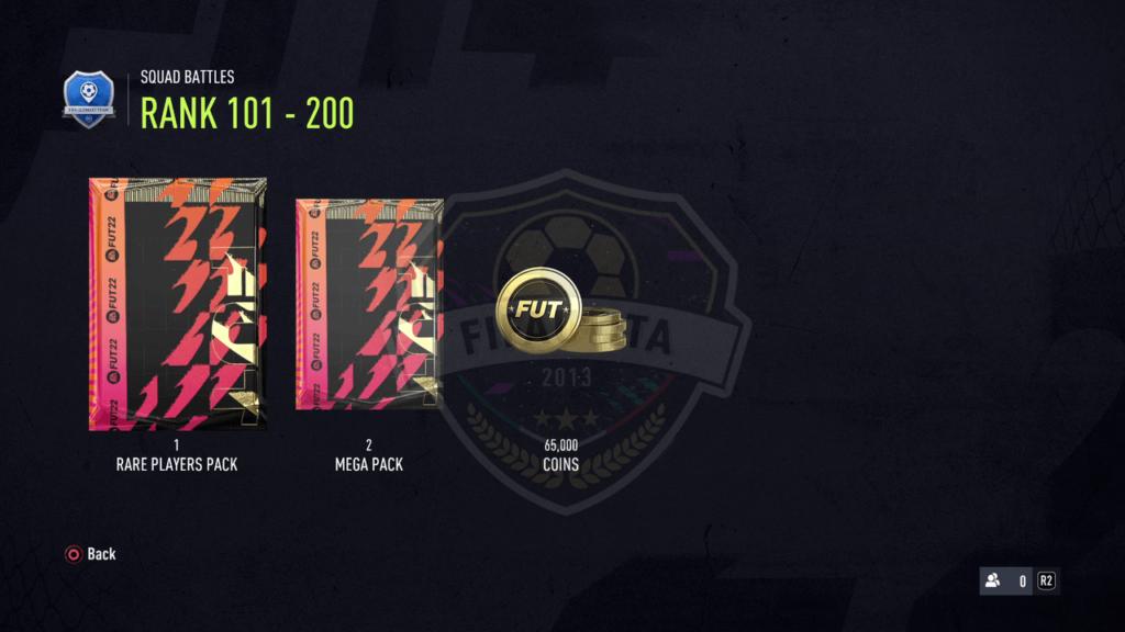 Premi Squad Battles FIFA 22: Rank 101-200