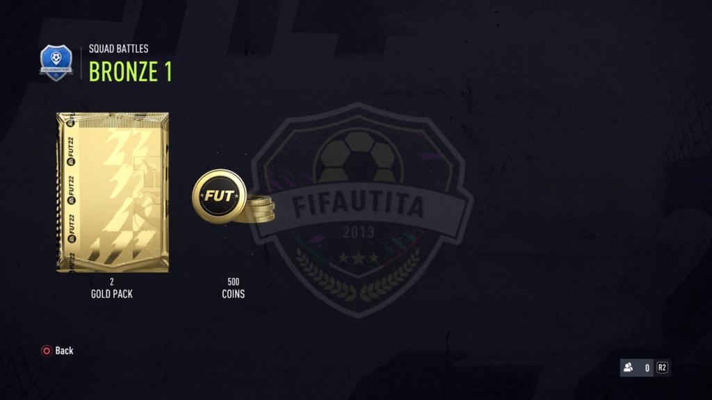 Premi Squad Battles FIFA 22: Rank bronze 1