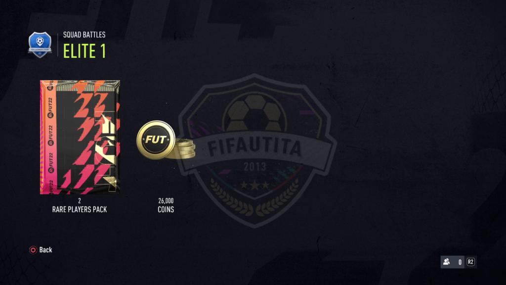 Premi Squad Battles FIFA 22: Rank elite 1
