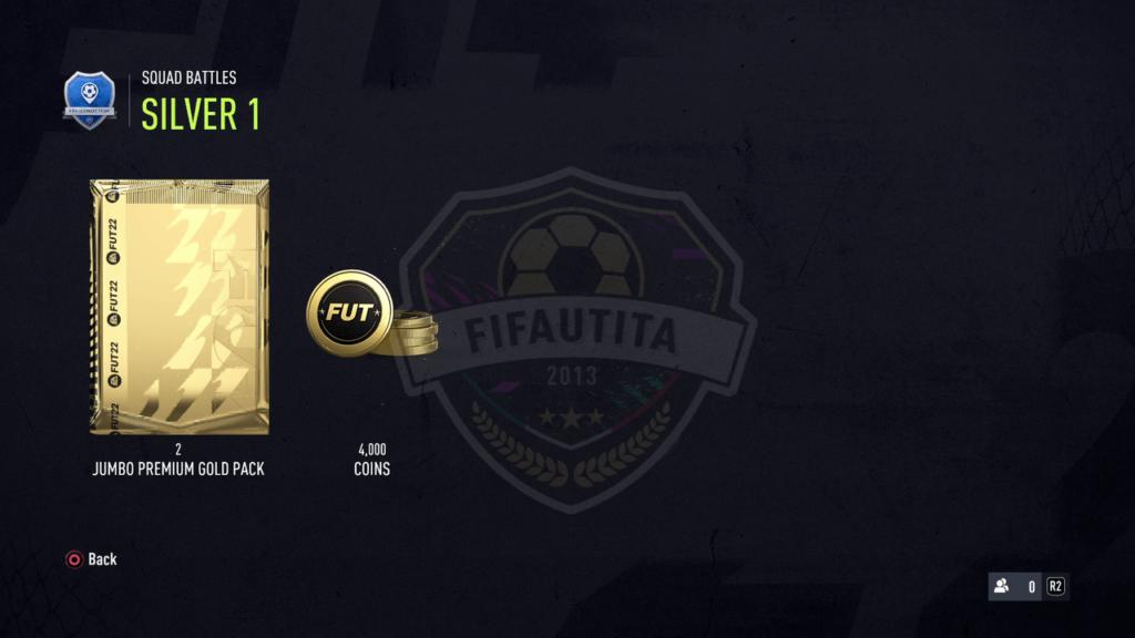 Premi Squad Battles FIFA 22: Rank silver 1